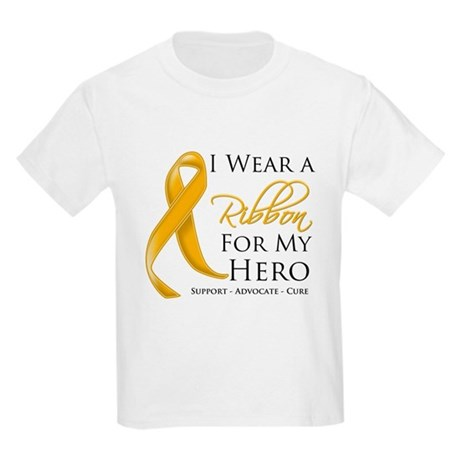 Hero Appendix Cancer Kids Light T-Shirt