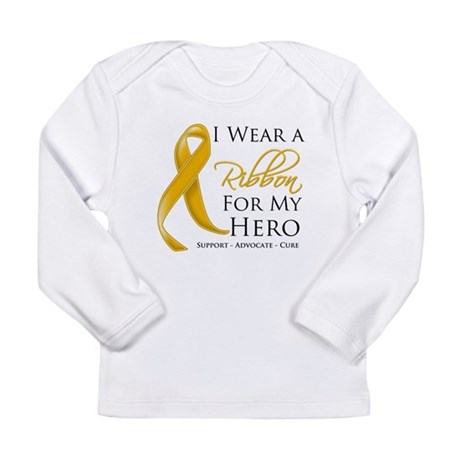 Hero Appendix Cancer Long Sleeve Infant T-Shirt