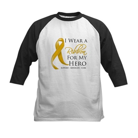 Hero Appendix Cancer Kids Baseball Jersey