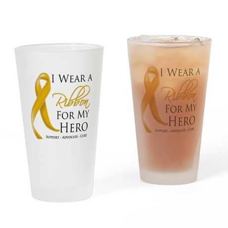 Hero Appendix Cancer Drinking Glass