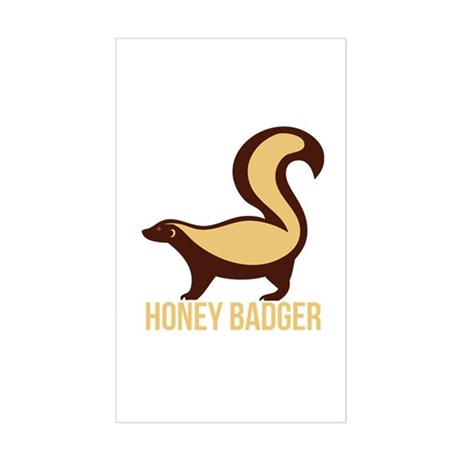 Honey Badger BadAss Sticker (Rectangle)