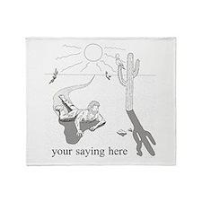 Desert Survival: Personalize Throw Blanket