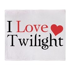 I Love Twilight Throw Blanket