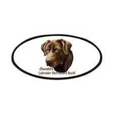 Chocolate Labs Rock Patches