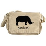 Got rhino? Messenger Bag