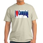 I Love Camping Ash Grey T-Shirt