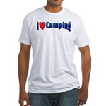 I Love Camping Fitted T-Shirt