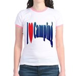 I Love Camping Jr. Ringer T-Shirt