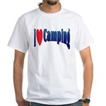 I Love Camping White T-Shirt