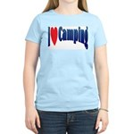 I Love Camping Women's Pink T-Shirt