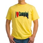 I Love Camping Yellow T-Shirt