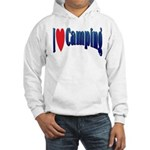 I Love Camping Hooded Sweatshirt