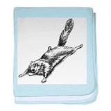 Flying Squirrel Illustration baby blanket
