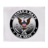 USN Gunners Mate Eagle GM Throw Blanket
