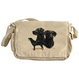 Labrador Retriever (black) Messenger Bag