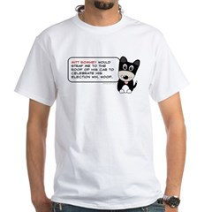 Romney vs Dogs White T-Shirt