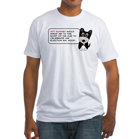 Romney vs Dogs Fitted T-Shirt