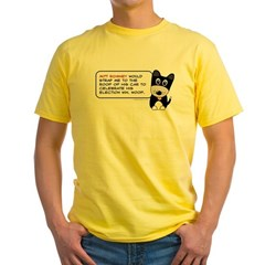 Romney vs Dogs Yellow T-Shirt