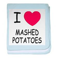 I heart mashed potatoes baby blanket