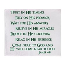 James 4:8 Throw Blanket