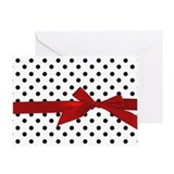 Black Polka Dots Greeting Card