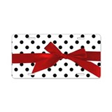 Black Polka Dots Aluminum License Plate