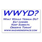 WWYD Sticker (Rectangle 10 pk)