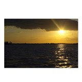 Black and Gold Sunset Postcards (Package of 8)
