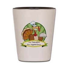 Thanksgiving Vegetarians Shot Glass