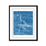 Blue Heron Framed Panel Print