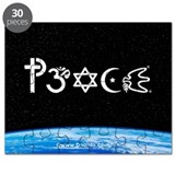Peace-OM on earth at nite Puzzle