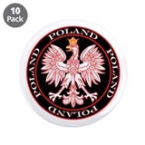 "Round Polish Eagle 3.5"" Button (10 pack)"