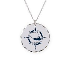 Nantucket MA - Compass Design Necklace