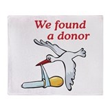 Donor Found Stork Throw Blanket