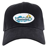 Nantucket MA - Surf Design. Baseball Hat