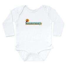 Nantucket MA - Beach Design Long Sleeve Infant Bod