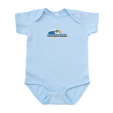 Nantucket MA - Waves Design. Infant Bodysuit