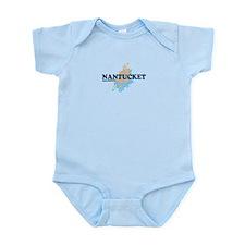 Nantucket MA - Seasshells Design Infant Bodysuit
