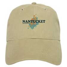 Nantucket MA - Seasshells Design Baseball Cap