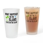 Happened on Island Drinking Glass