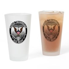 USN Sonar Technician Eagle ST Drinking Glass