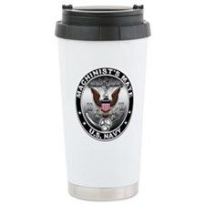 USN Machinists Mate Eagle MM Ceramic Travel Mug