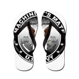USN Machinists Mate Eagle MM Flip Flops