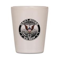 USN Navy Diver Eagle ND Shot Glass