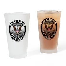 USN Navy Diver Eagle ND Drinking Glass
