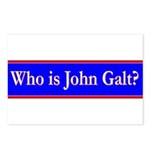 John Galt Postcards (Package of 8)