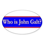 John Galt Sticker (Oval 10 pk)