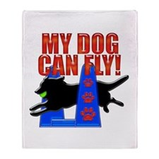 My Dog Can Fly Throw Blanket