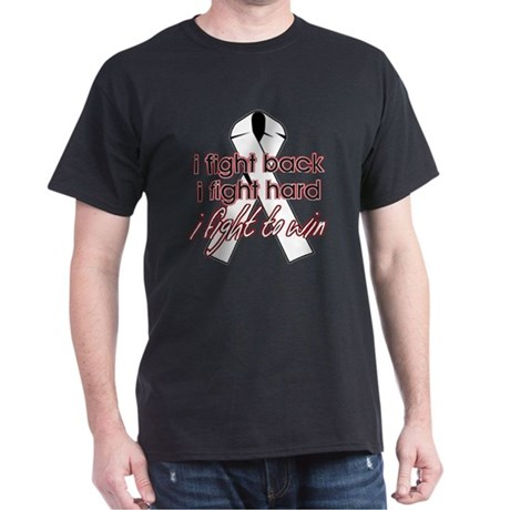 Lung Cancer I Fight Back Dark T-Shirt