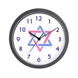Star of David Wall Clock